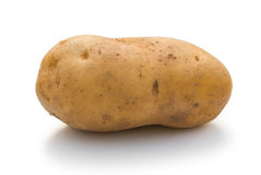 Potatoe on white Stock Photography