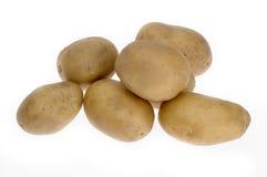 Potatoes. On white Stock Photos