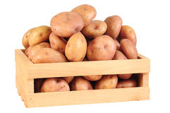 Potatoes. Fresh potatoes, isolated over white background Royalty Free Stock Photo