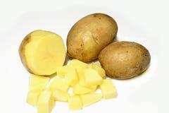 Potatoes. Isolated on white background stock images