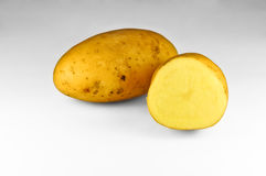 Potatoes. Some potatoes on light background. Shallow dof Stock Images