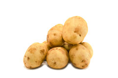 Potatoes. Pile of potatoes isolated on white Stock Photo