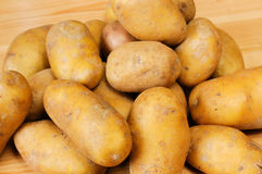 Potatoes. A few of potatoes side by side Stock Images
