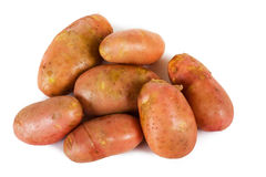 Potatoes. Isolated on white background Stock Photography