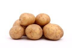 Potatoes. Fresh potatoes on a white background Stock Photos