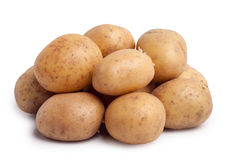 Potatoes. Isolated on white background stock image