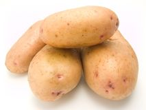 Potatoes. Fresh new potatoes for soup and lettuce Stock Image