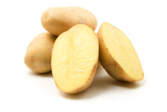 Potatoes. Isolated on white background stock photo