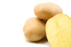 Potatoes. Isolated on white background royalty free stock photos