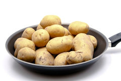 Potatoes. Raw potatoes in the pan Royalty Free Stock Photography
