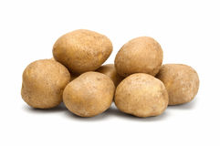 Potatoes. Pile of potatoes isolated on white background Royalty Free Stock Images