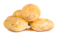 Potatoes. Picture of a raw potatoes on white background Royalty Free Stock Images