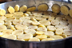 Potatoes in another pan Stock Photos