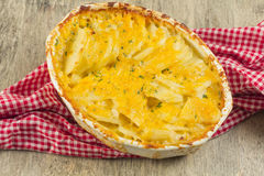 Potatoes Au Gratin. Baked cheesy potatoes au gratin scalloped potatoes royalty free stock photography