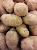 Potatoes background texture stock image