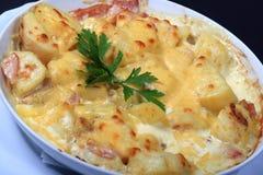 Potatoes and bacon Royalty Free Stock Photo