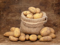 Potatoes in the Bag Royalty Free Stock Images