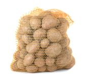 Potatoes in a bag Stock Photography