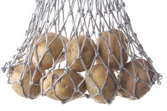 Potatoes in a bag Stock Image
