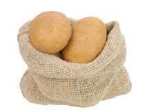 Potatoes in bag Stock Photography