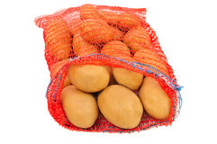 Potatoes in bag Stock Photo