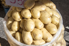 Potatoes in bags Royalty Free Stock Images
