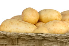 Potatoes in a basket Royalty Free Stock Images