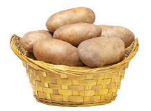 Potatoes in the basket Stock Photography