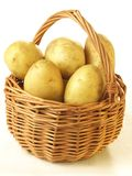 Potatoes in basket,  Royalty Free Stock Photos