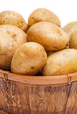 Potatoes in basket Stock Images