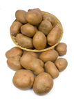 Potatoes in a basket Royalty Free Stock Image