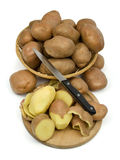 Potatoes in a basket Stock Image