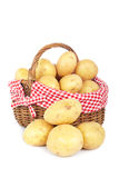 Potatoes in the basket Royalty Free Stock Photos