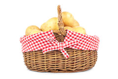 Potatoes in the basket Royalty Free Stock Photo