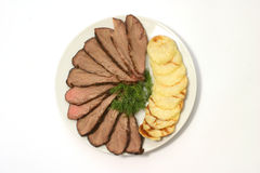 Potatoes and beef Royalty Free Stock Images