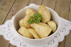 Potatoes boiled in their jaket Stock Photos