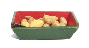 Potatoes in a box Royalty Free Stock Photography