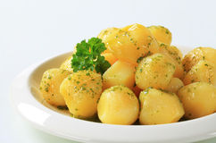 Potatoes with butter and parsley Stock Image