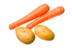Potatoes and carrots Royalty Free Stock Images