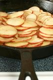 Potatoes in Cast Iron Skillet Stock Image