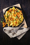 Potatoes with chanterelle roasted Royalty Free Stock Photography