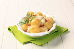 Potatoes and cheese Stock Image