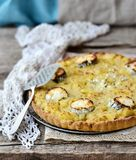 Potatoes and  cheese quiche Royalty Free Stock Photos