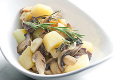 Potatoes with chicken meat Royalty Free Stock Photography