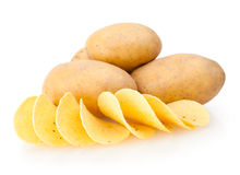 Potatoes and chips Royalty Free Stock Images