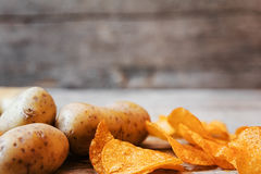 Potatoes and chips Royalty Free Stock Photos