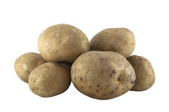 Potatoes with clipping path Stock Images