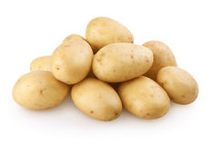Potatoes with clipping path Stock Photography