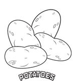 Potatoes coloring page Royalty Free Stock Images