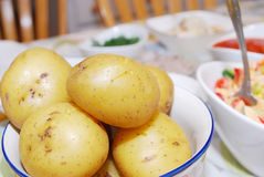 Potatoes cooked Stock Photos